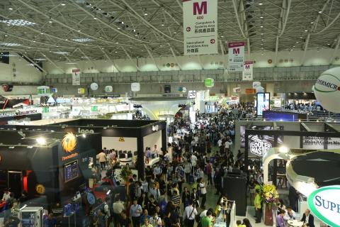 2015年台北国際コンピューター見本市の南港展覧館4階鳥瞰図(写真:ビジネスワイヤ)