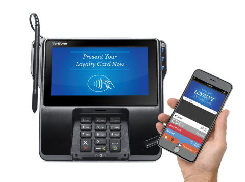 Verifone supports launch of new store rewards offering within Apple Pay (Photo: Business Wire)