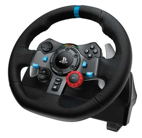 The Logitech® G29 Driving Force is a force feedback racing wheel licensed for PlayStation®4 (PS4™) a ...