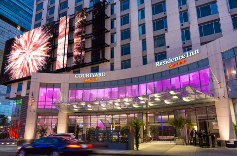 The Alliance for Quality Construction's 2015 Q Award recipient Marriott Courtyard & Residence Inn Los Angeles L.A. LIVE. (Photo: Business Wire)