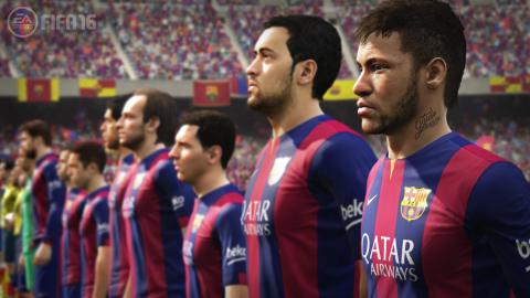 EA SPORTS FIFA 16 Barcelona Lineup (Photo: Business Wire)