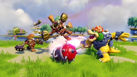 Guest starring in Skylanders® SuperChargers this fall, Hammer Slam Bowser commands Koopas, summons Warp Pipes and unleashes fire-breathing attacks to battle evil in Skylands. (Graphic: Business Wire)