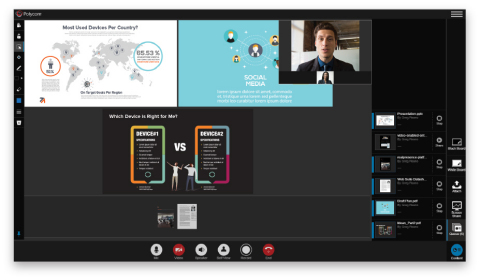 Polycom® RealPresence® Web Suite is an innovative collaboration software solution that allows users to share, view, compare and annotate multiple documents at the same time through a high-quality collaborative experience. (Photo: Business Wire)