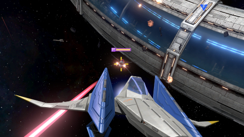 Fox, Falco, Peppy and Slippy are back in a new adventure, Star Fox Zero. Players pilot an Arwing in the traditional style of TV game play and, in a new twist, players can use the cockpit view on the GamePad to aim and shoot enemies using the gyro controls. (Photo: Business Wire)