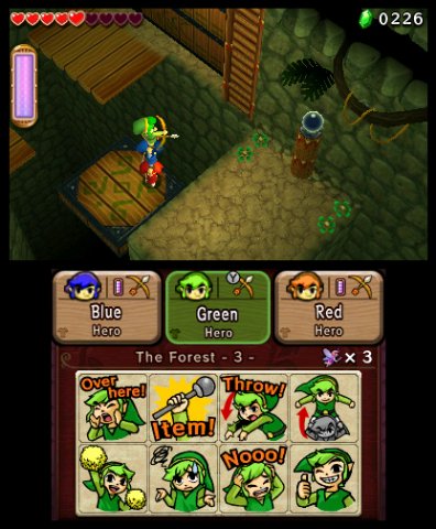 In The Legend of Zelda: Tri Force Heroes, three players take on the role of individual Link characters and team up to solve puzzles and battle bosses in dungeons. (Photo: Business Wire)