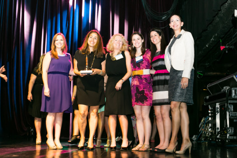 """MSLGROUP accepts the 2015 Super Bell award for their work with Exact Sciences on the healthcare publicity campaign, """"Launching Cologuard: A Game-changer in the Fight Against Colon Cancer."""" (Photo: Business Wire)"""