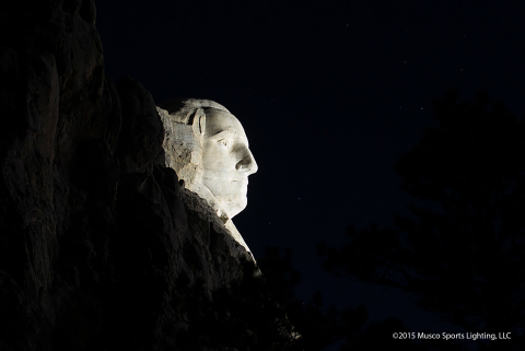 Musco's LED lighting solution enhances the aesthetics of the monument, while ensuring light is not spilled into the night sky and natural wildlife area (Photo: Musco Lighting)