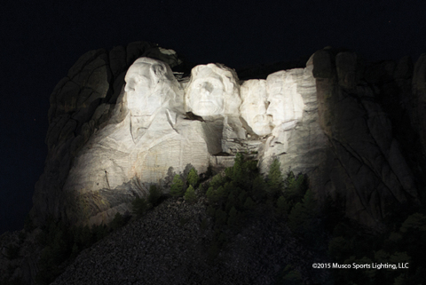 Musco's LED lighting solution enhances the visitor experience at Mount Rushmore (Photo: Musco Lighting)