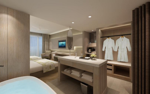 Deluxe Ocean Twin bed room (Photo: Business Wire)