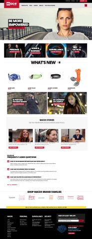 The new homepage of Mace.com (Photo: Business Wire)
