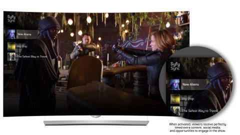 Syfy Sync for LG Smart TV, powered by Watchwith Televised™ (Graphic: Business Wire)