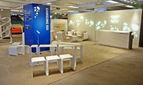 Samsung SDI showcased practical interior products built upon its premium solid surface brand Staron  ...