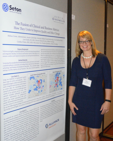 Melissa Cronn, Administrator, Austin CyberKnife, at the 2015 American College of Radiation Oncology's annual meeting in Washington, D.C. (Photo: Business Wire)