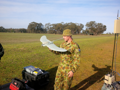 Powerful Insight, On Demand: The Australian Defence Force recently received shipment and began training with AeroVironment's RQ-12 Wasp® AE unmanned aircraft systems. (Photo: Business Wire)