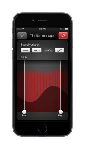 The new tinnitus manager on the ReSound Smart™ app allows people to adjust a variety of settings, from simple tinnitus relief sound options to more advanced frequency shaping and sound variation settings for the white noise designed to match each individual's specific tinnitus needs. (Photo: Business Wire)