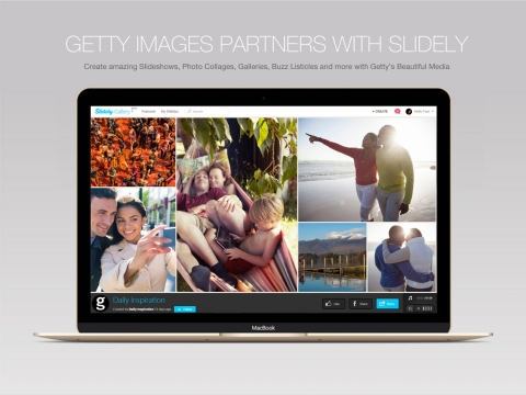 Getty Images Partners with Slidely. Slidely users can create slideshows, photo collages, listicles and more with Getty's beautiful media. (Photo Business Wire)