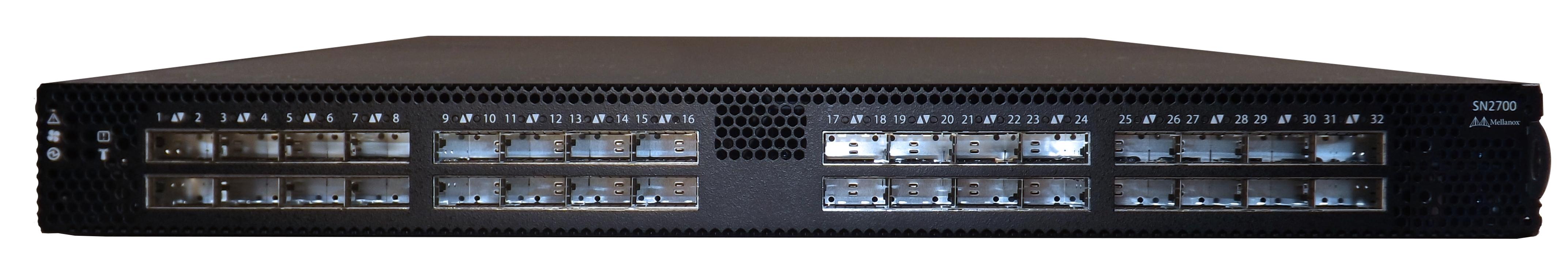 Mellanox Spectrum SN2700 32-Port 10/25/40/50/100 Gigabit Ethernet Switch (Photo: Business Wire)
