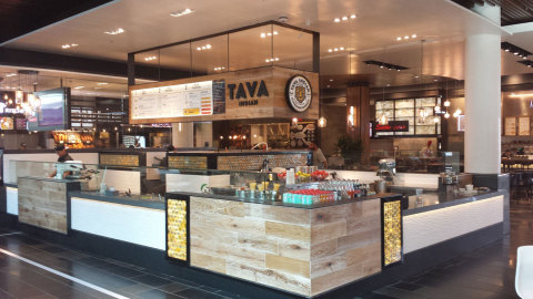 Tava Indian Kitchen's restaurant at the Valley Fair Mall in San Jose, CA