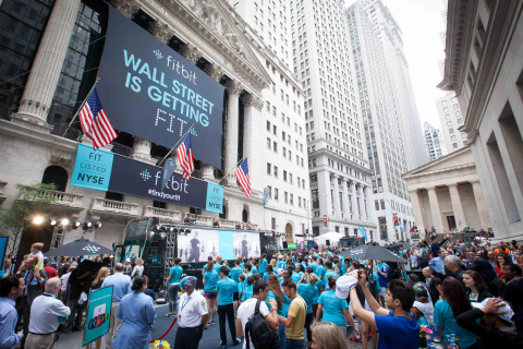 Fitbit (NYSE: FIT) celebrates its IPO with a workout event outside the NYSE. (Photo: Business Wire)