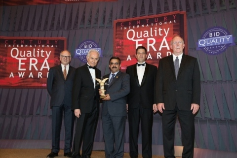 Mr. Gurudatta Gayatri, CEO & Director of Estima Pharma Solutions LLP, Received the CQE Award from Jose E. Prieto, President & CEO of BID, Alfonso C. Casal, Scientific Director of BID Group One, Craig Miller, President of the QC100 and Norman Ingle, President of the Quality Mix (Photo: Business Wire)