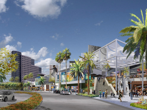 Street view rendering of future Promenade at Howard Hughes Center (Photo: Business Wire)