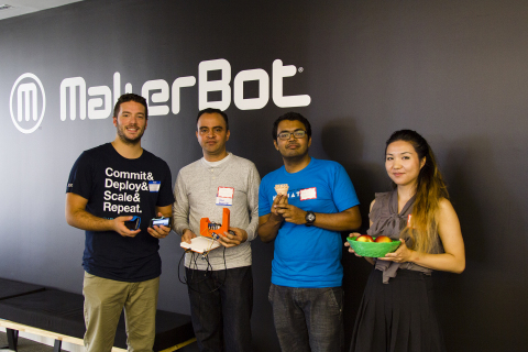 The winning team of the Third Annual Hack-A-Thon at MakerBot headquarters was Food Share, a new solution to display and share food from your refrigerator with neighbors.