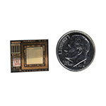 Freescale's breakthrough single chip module technology integrates a full featured dual core processor and more than 100 other components into a package the size of a U.S. dime.(Photo: Business Wire)