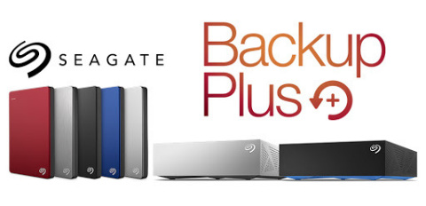 Available July 2015, the new Seagate Backup Plus Family of hard drives now include OneDrive cloud storage by Microsoft and a new high-capacity 4TB portable drive. (Photo: Business Wire)