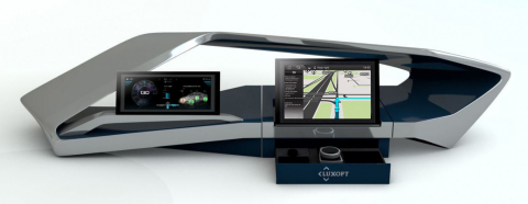 Luxoft chooses TomTom NavKit for its AllView™ car infotainment reference design platform (Photo: Bus ...