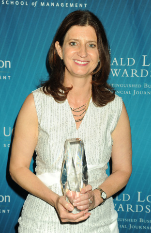 The Gerald Loeb Awards - Rebecca Blumenstein, Minard Editor Award Honoree - Presented by UCLA Anderson (Photo: Business Wire)