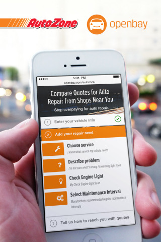 Openbay, the only nationwide online marketplace for auto repair, has partnered with AutoZone, Inc. ( ...