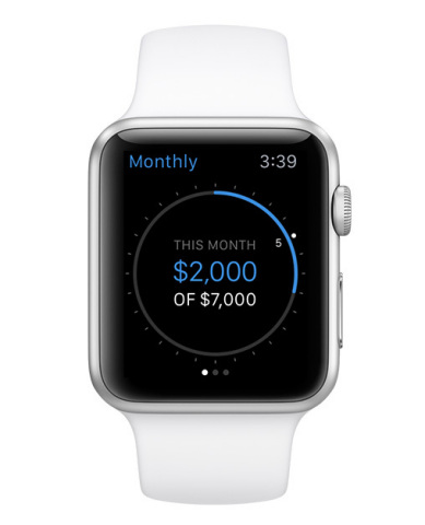 """""""Time is money, and Personal Capital's app for the Apple Watch is all about fast and convenient trac ..."""