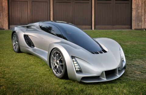 Divergent Microfactories Drives the Future of Car Manufacturing with Blade, the first 3D-Printed Supercar Built Using Node Technology Platform (Photo: Business Wire)