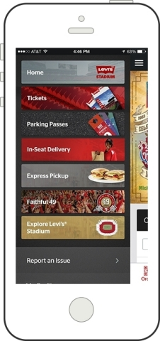 Levi's® Stadium Venue App Powered by VenueNext (Photo: Business Wire)