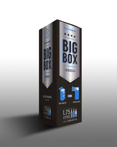 A rendering of the new packaging for Big Box Vodka. (Graphic: Business Wire)
