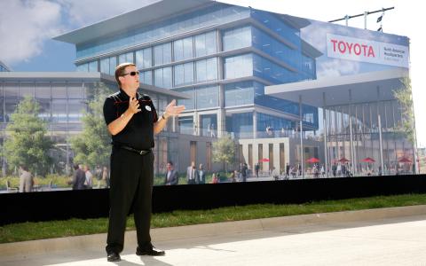 Jim Lentz, CEO of Toyota's North America Region is seen at the Toyota Plano Headquarters Plans Revea ...