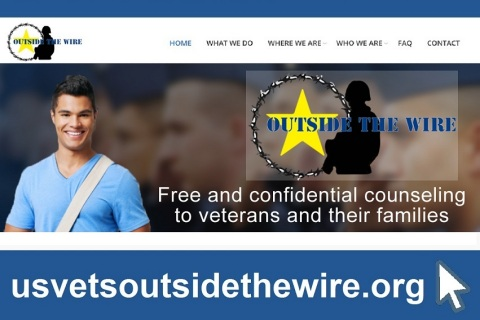 U.S.VETS' new website for the Outside the Wire program helps connect veterans and their family members with free mental health services, available at 12 community colleges throughout Los Angeles and Orange Counties. (Graphic: Business Wire)