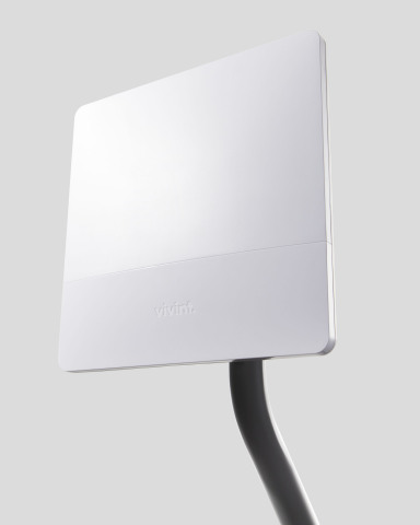 The Vivint Internet wireless antenna provides high-speed wireless Internet access to residential cus ...