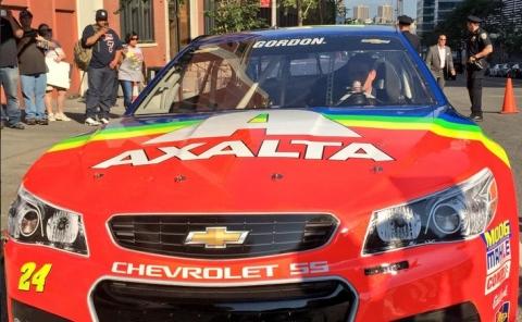 Rainbow paint scheme returns-No. 24 Axalta Chevrolet SS (Photo: Axalta)