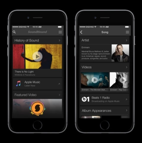 SoundHound Launches with Apple Music Today (Photo: Business Wire)