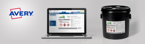 Avery® UltraDuty™ GHS Chemical Labels is a new line of heavy-duty industrial labels that help organi ...