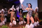 Hardrive Productions out of Orlando, Florida puts on a heart-pounding African performance for the grand opening of Kalahari Resorts and Conventions in the Pocono Mountains, Penn. Designed by the distinguished and storied choreographer, Pam Bolling, the group ushered in the authentically-African resort's first foray into the East Coast. For more information, visit www.KalahariResorts.com. (Photo: Business Wire)