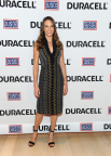 Hilary Swank, actress and daughter of a retired Air Force Senior Master Sergeant, attends the premiere of Duracell's new film, The Teddy Bear, that shines a light on military families and supports the USO, Thursday, July 2, 2015, at The Times Center in New York. The film, inspired by a true story, was released in time for the July Fourth holiday weekend and can be viewed at youtube.com/Duracell. (Photo by Diane Bondareff/Invision for Duracell/AP Images)