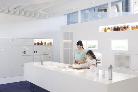 """我的专业厨房:通过与""""管家""""的对话,烹饪范围可以从利用冰箱里的配料制作简单食谱扩展到烹制专业级创意菜品。(照片:美国商业资讯)"""