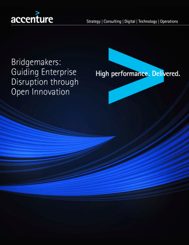 Accenture POV: Bridgemakers: Guiding Enterprise Through Open Innovation (Graphic: Business Wire)