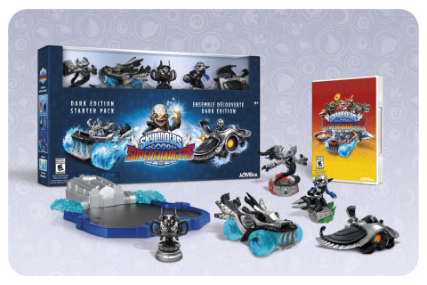 The Skylanders® SuperChargers Dark Edition Starter Pack includes truly unique toys that true Portal Masters will want in their collections. Fans can pre-order today. The Starter Pack will be available on September 20. (Photo: Business Wire)