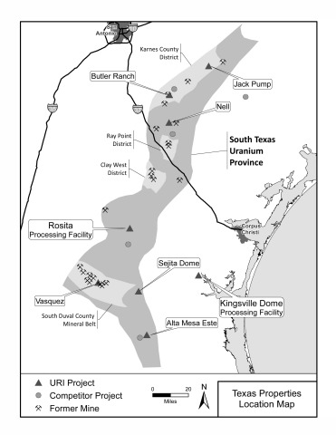 Appendix Map 1: Location Map of Texas Properties (Graphic: Business Wire)