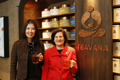 Annie Young-Scrivner, president, Teavana and Judy Vredenburgh, President and CEO, Girls Inc. announce national partnership in support of youth education, mentorship, and college readiness. (Photo: Business Wire)