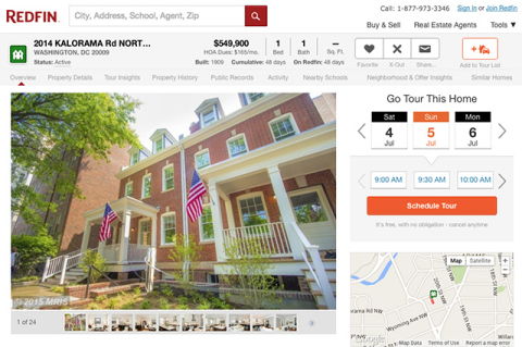 The Redfin 'Book It Now' tool makes it easy to schedule a tour of a home for sale with a Redfin agent. (Graphic: Business Wire)