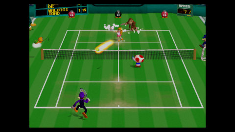 In Mario Tennis, the Mushroom Kingdom's finest hit the court in this wild multiplayer tennis game fr ...